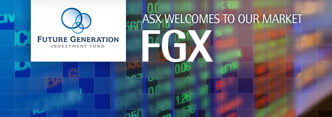 ASX welcomes Future Generation Investment Fund Limited