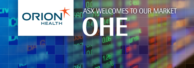 ASX welcomes Orion Health Group Limited