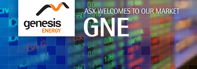 ASX welcomes Genesis Energy Limited