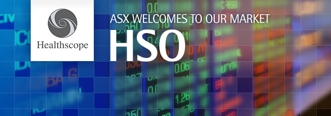 ASX welcomes Healthscope Limited