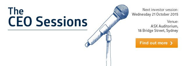 Hear from ASX-listed company senior executives at the next investor session
