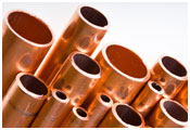 Image of copper pipes