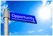 Image of street sign with the word 'opportunity'