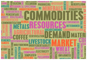 Image of words associated with commodities