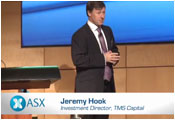 Image of Jeremy Hook presenting at ASX Investor Hour