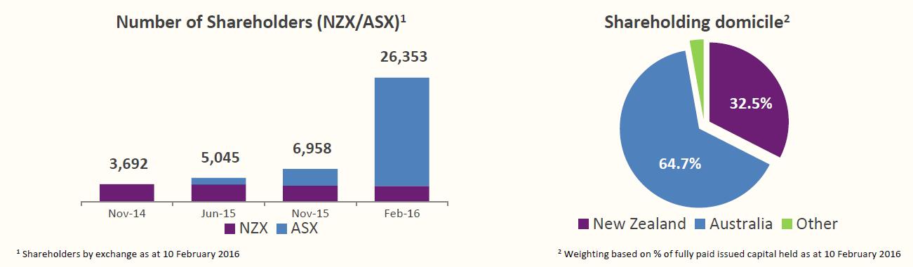 Chart of NZ companies